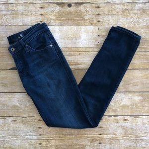 AG The Stilt Cigarette Leg Dark Wash Jeans 26